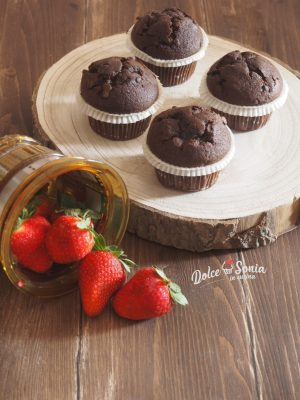 Muffin cioccolato e fragola